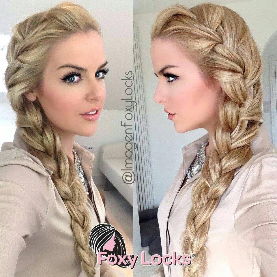 Gorgeous side braid