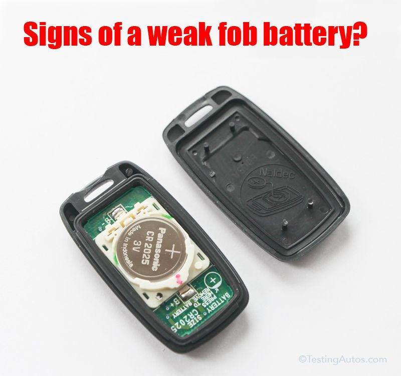 Signs of a weak fob battery in 2020 fobs key fob battery