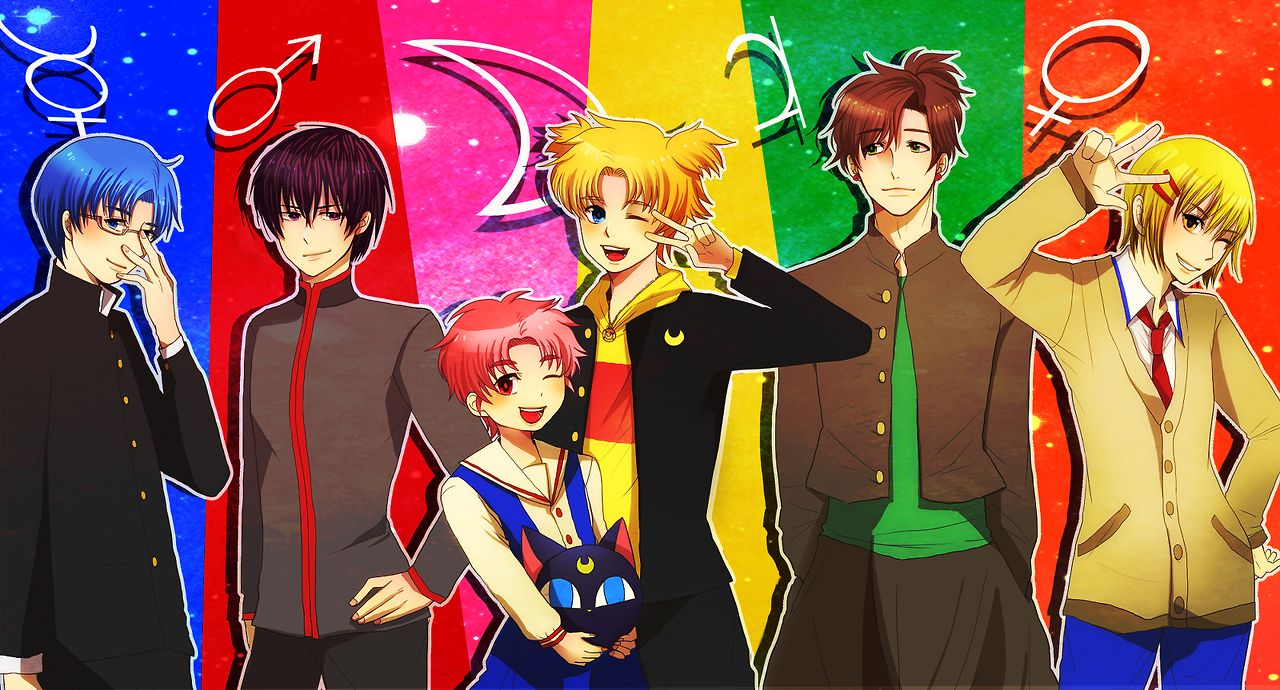 Sailor Moon Gender Bender ~ OMG it's basically Ouran Host Club. Why did I never make that correlation before?