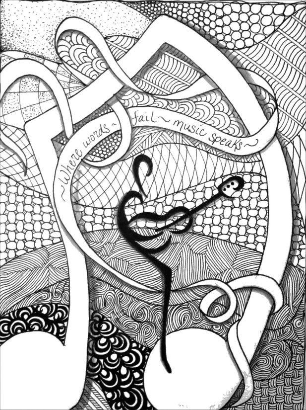 Dibujos para colorear para adultos Musica | COLOREAR | Pinterest ...