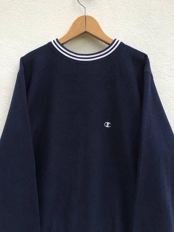 a2b4dd6b414f Vintage Champion Navy Blue Sweatshirt   Champion T Shirt ...