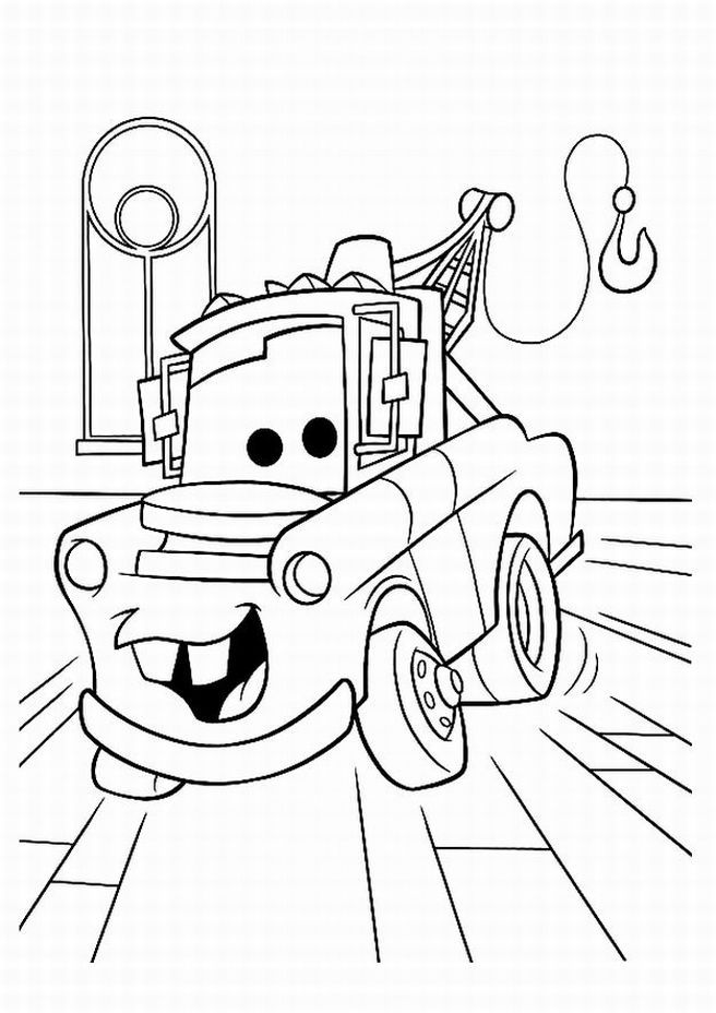 Disney Cars Mater Coloring Pages Find All The Tsum Tsum