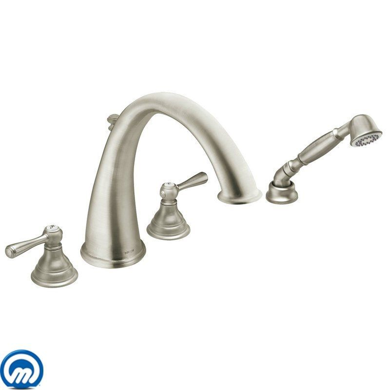 Moen T922 Chrome Deck Mounted Roman Tub Faucet Trim with Personal ...