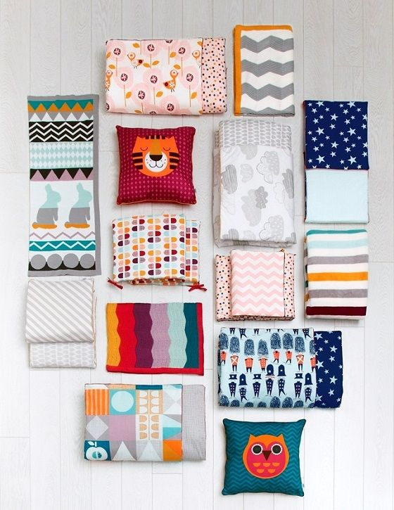 Patterns bedding set for kids   Ropa de cama para niños con
