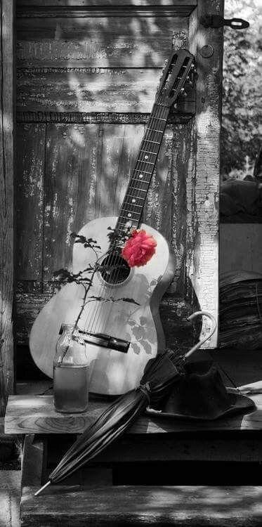 Emozioni Disegni Musica Chitarra Bianco E Nero