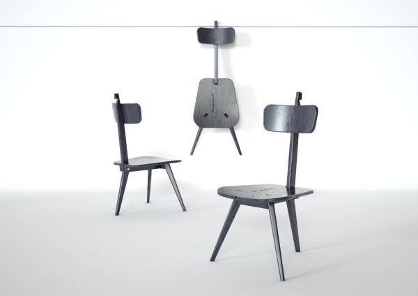 Great A Three Legged Chair That Neatly Folds Flat In Home Furnishings Category