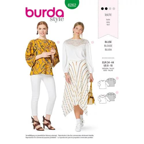Burda Ladies Easy Sewing Pattern 6401 Swing Dress with Sleeve Variations
