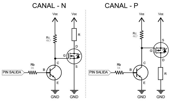 Transistor como interruptor arduino