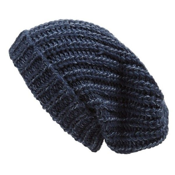 31ac1dffabe Phase 3 Chunky Rib Knit Beanie found on Polyvore featuring accessories