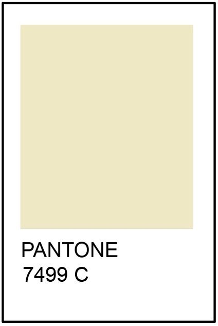 Pantone Cream Paint Card