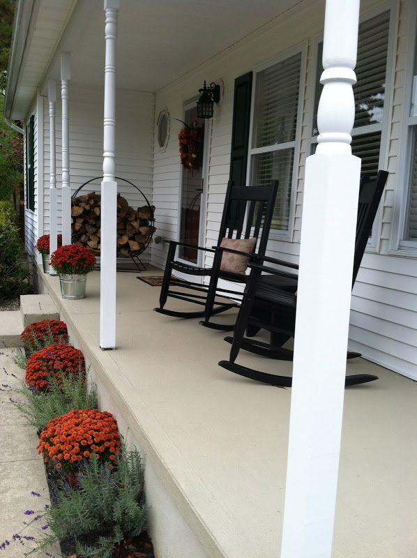 Resurfacing Concrete Porch Makeover Concrete Front Porch Porch