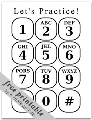 emergency phone list coloring pages - photo#10