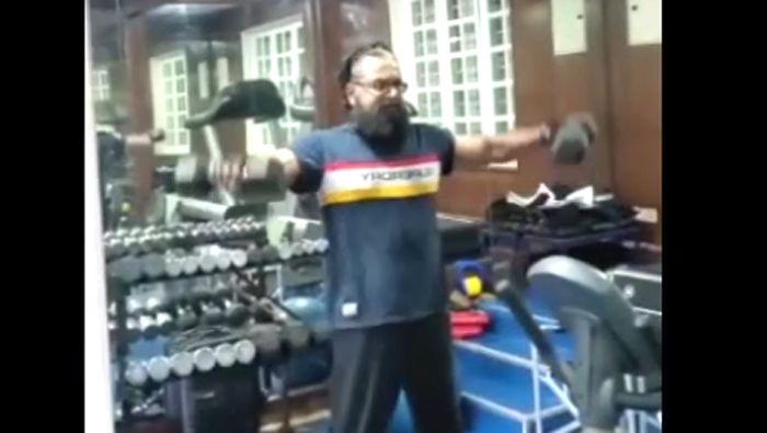 Actor Sarath Kumar Gym Workout Video – World Health Day