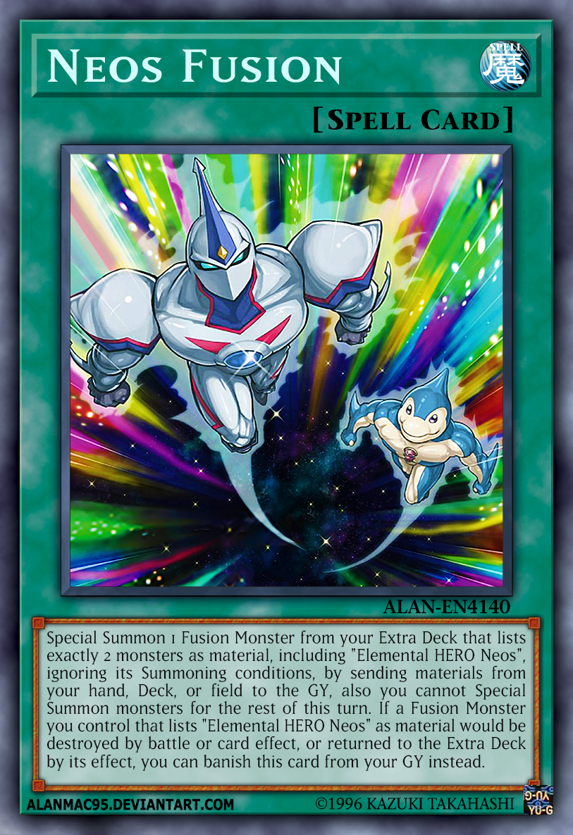 Neos Fusion by AlanMac95 on DeviantArt   Fusion card, Monster cards, Yugioh