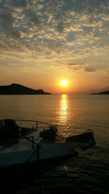 Sunrise in a very small island in Greece named Chalki