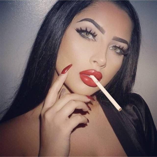 ed9100a0 SEXY The Allure, Lip Gloss, Red Smoke, Women Smoking Cigarettes, Girl  Smoking