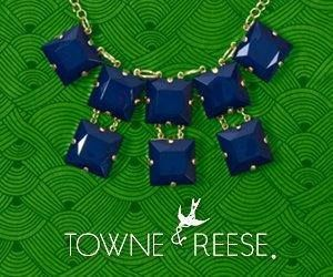 Get this necklace from Charm Lafayette. The indigo color will go with just about anything.