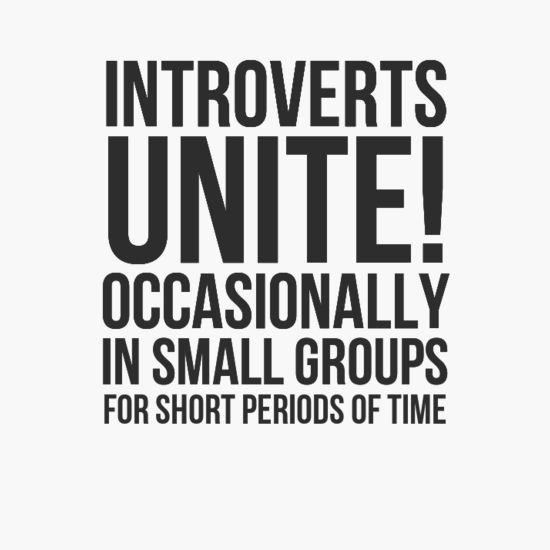c25aaeaf5 Introverts Unite! { introvert } framed art print, greeting card, t-shirt,  canvas, or mug, in more colors.