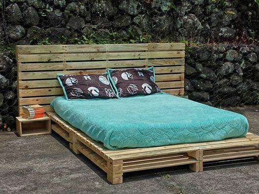 Cama  Bed #reinventa #arte #colores #madera #wood #ecologia - camas con tarimas
