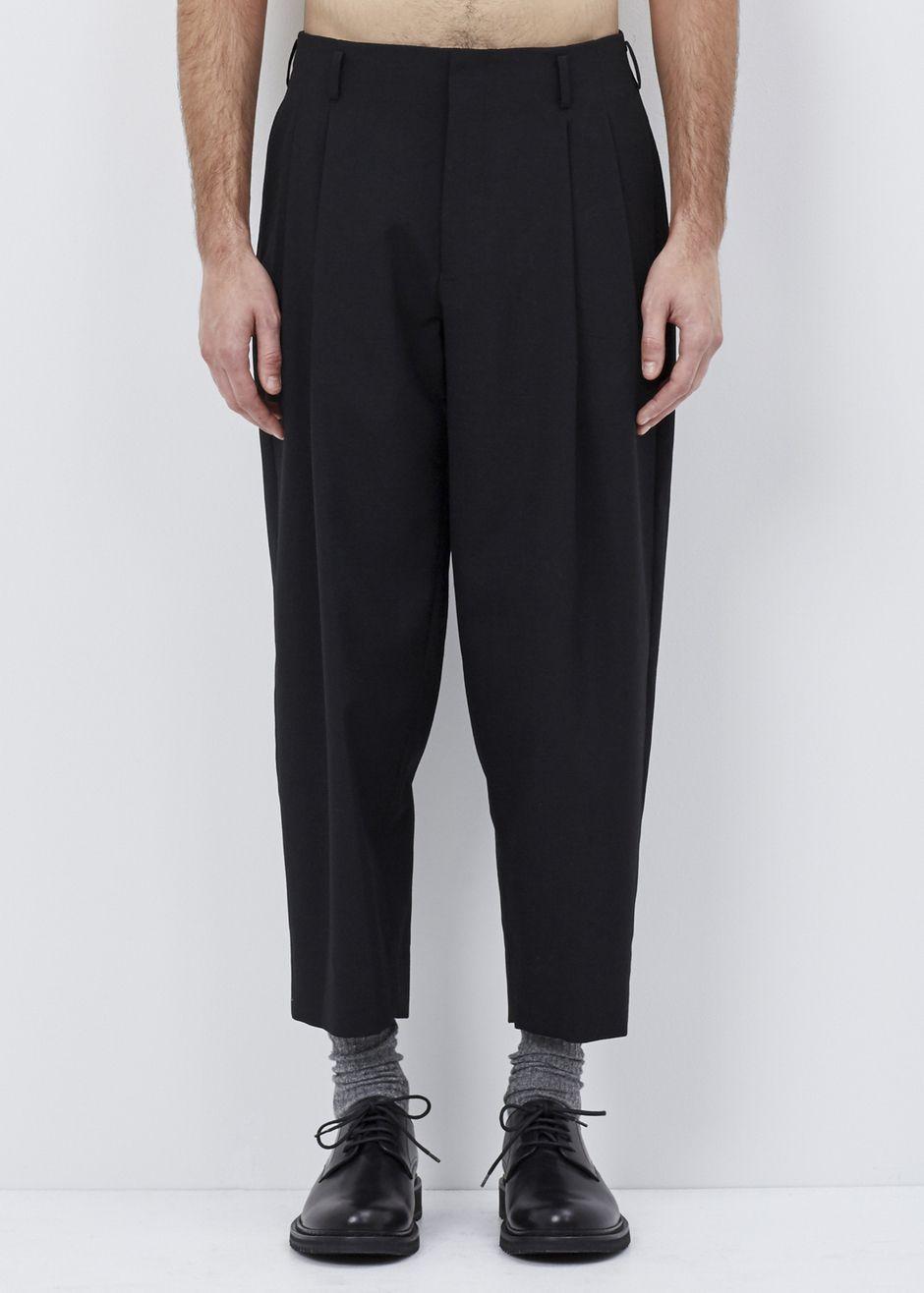 27de9252060dab Comme des Garcons Homme Plus Pleated Trouser (Black)