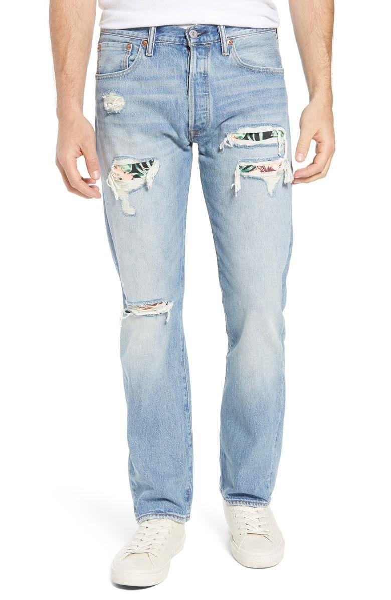 9b373fde Free shipping and returns on Levi's® 501® Original Straight Leg Jeans  (Pieced Hawaiian