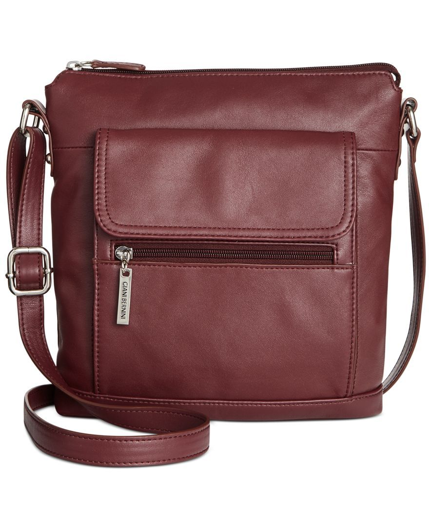 Giani Bernini Nappa Leather Venice Crossbody Created For Macy S Reviews Handbags Accessories Macy S In 2020 Leather Briefcase Men Leather Nappa Leather