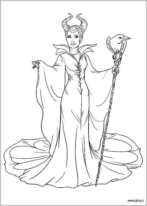 Раскраски Малефисента (Disney Maleficent coloring pages