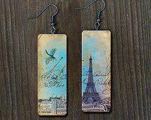Vintage elegance polymer clay earrings