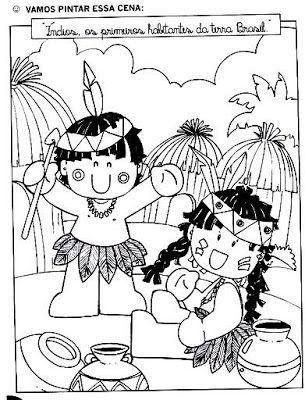 Desenhos Do Dia Do Indio Para Imprimir E Colorir Indio Desenho