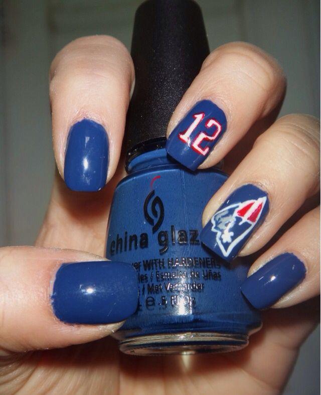 New England Patriots nailsart | Nails Art | Pinterest | England ...