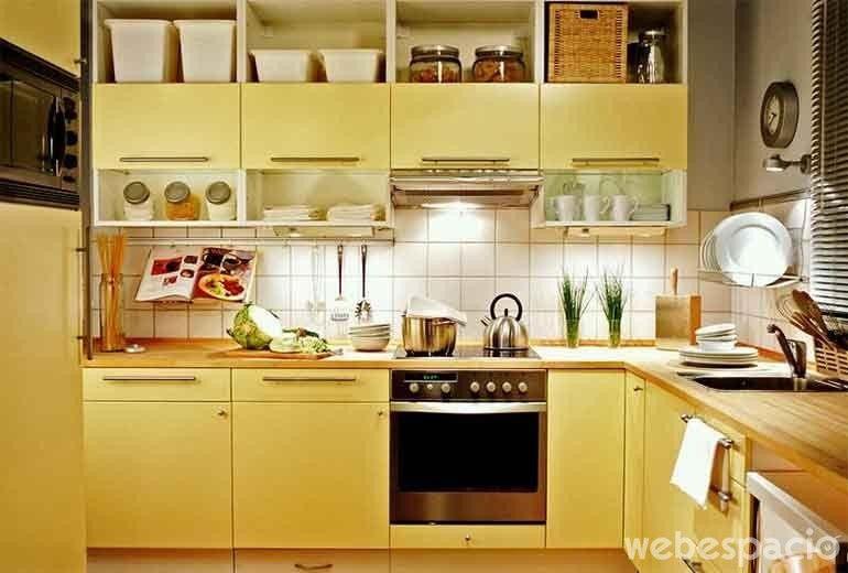 mueble-de-cocina-amarillo-patito | cocina | Pinterest | Cocina ...