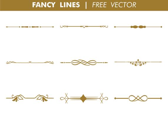 Decorative Fancy Lines Vector Vector Art Design Vector Art Vector Free