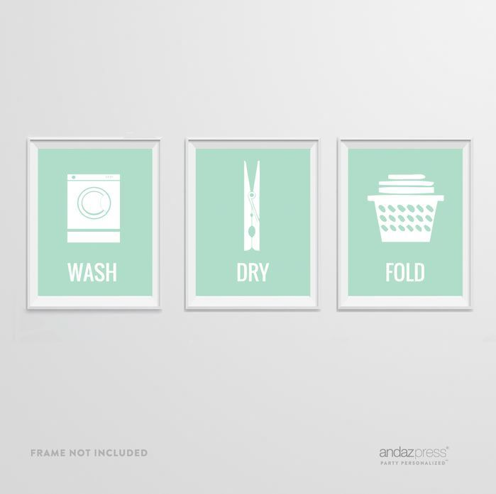 Found it at wayfair laundry room graphic art
