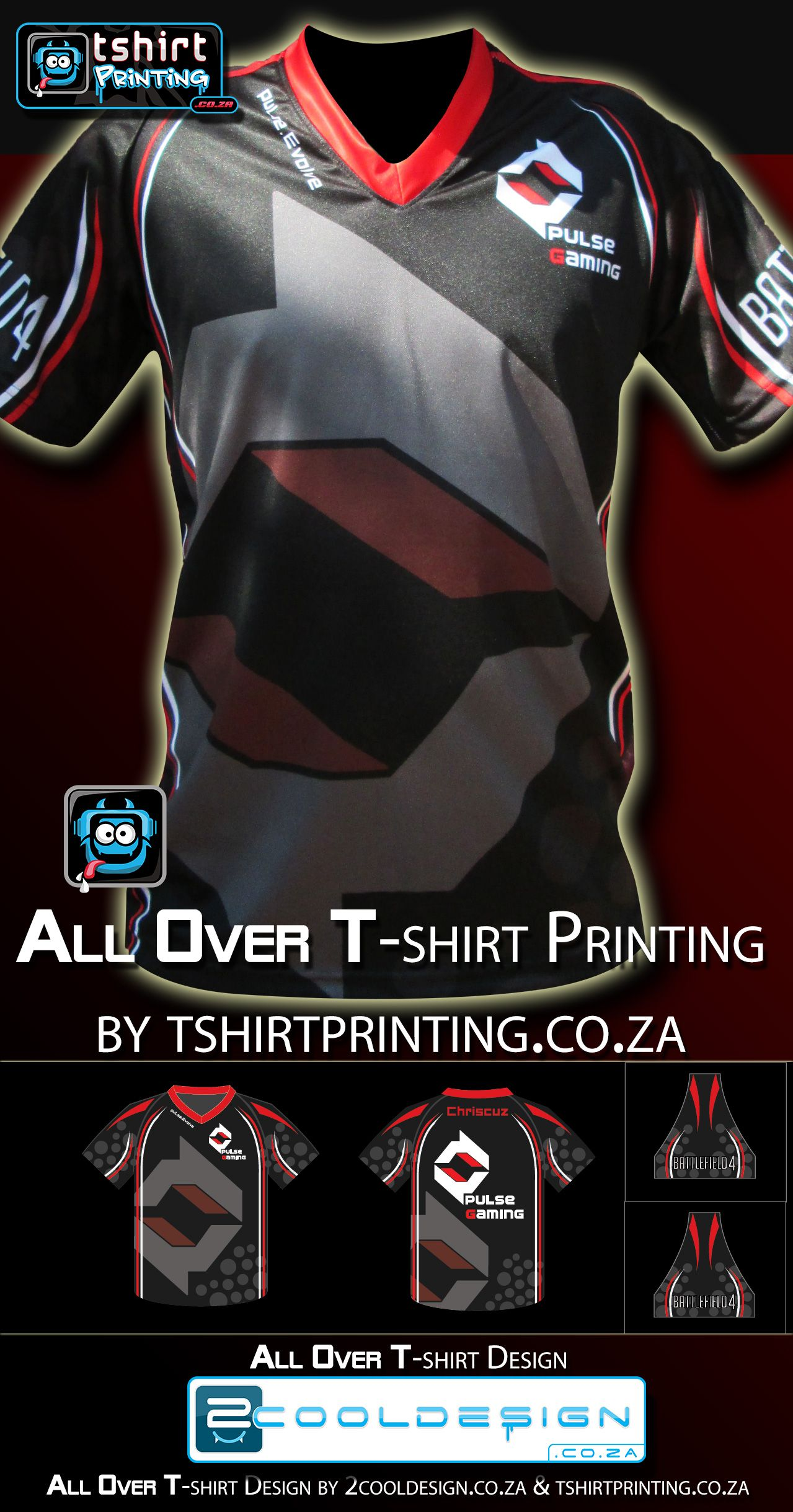 All Over Sublimation Tshirt Printing Clan Shirt For Gamers 2014