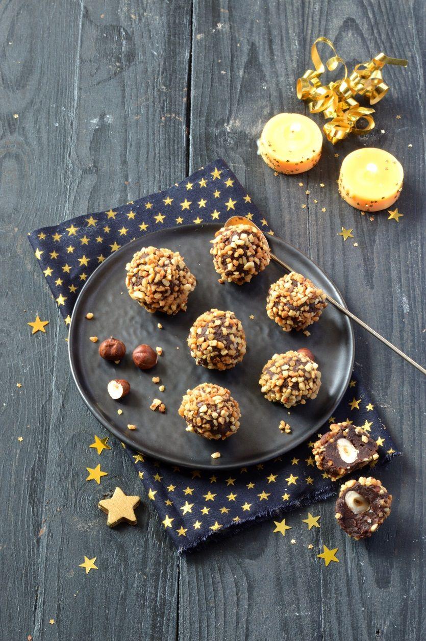 Truffes vegan chocolat noisettes