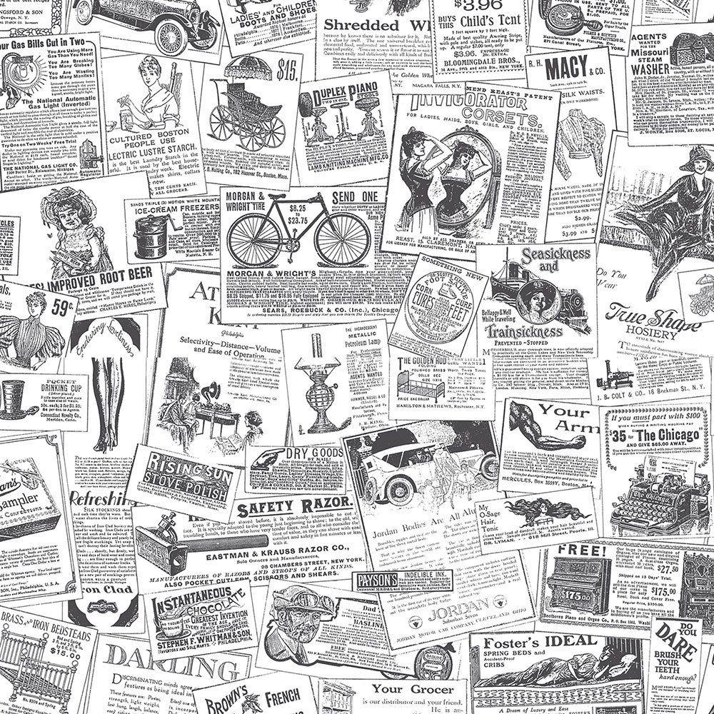 norwall wallcoverings bk32083 fresh kitchens 5 newspaper wallpaper