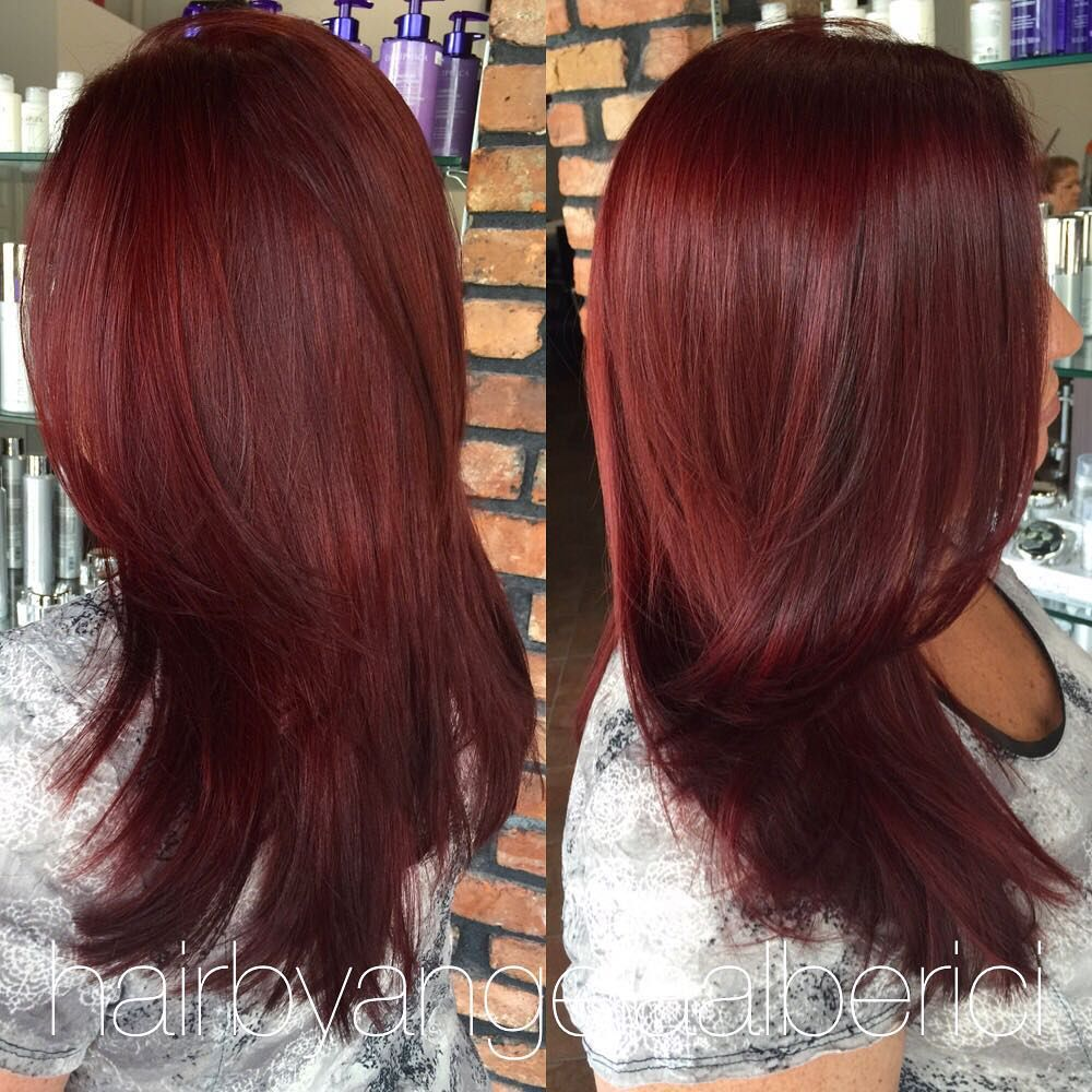 Deep Red Violet Color  Hair  Pinterest  Violets Hair Coloring And Red Hair