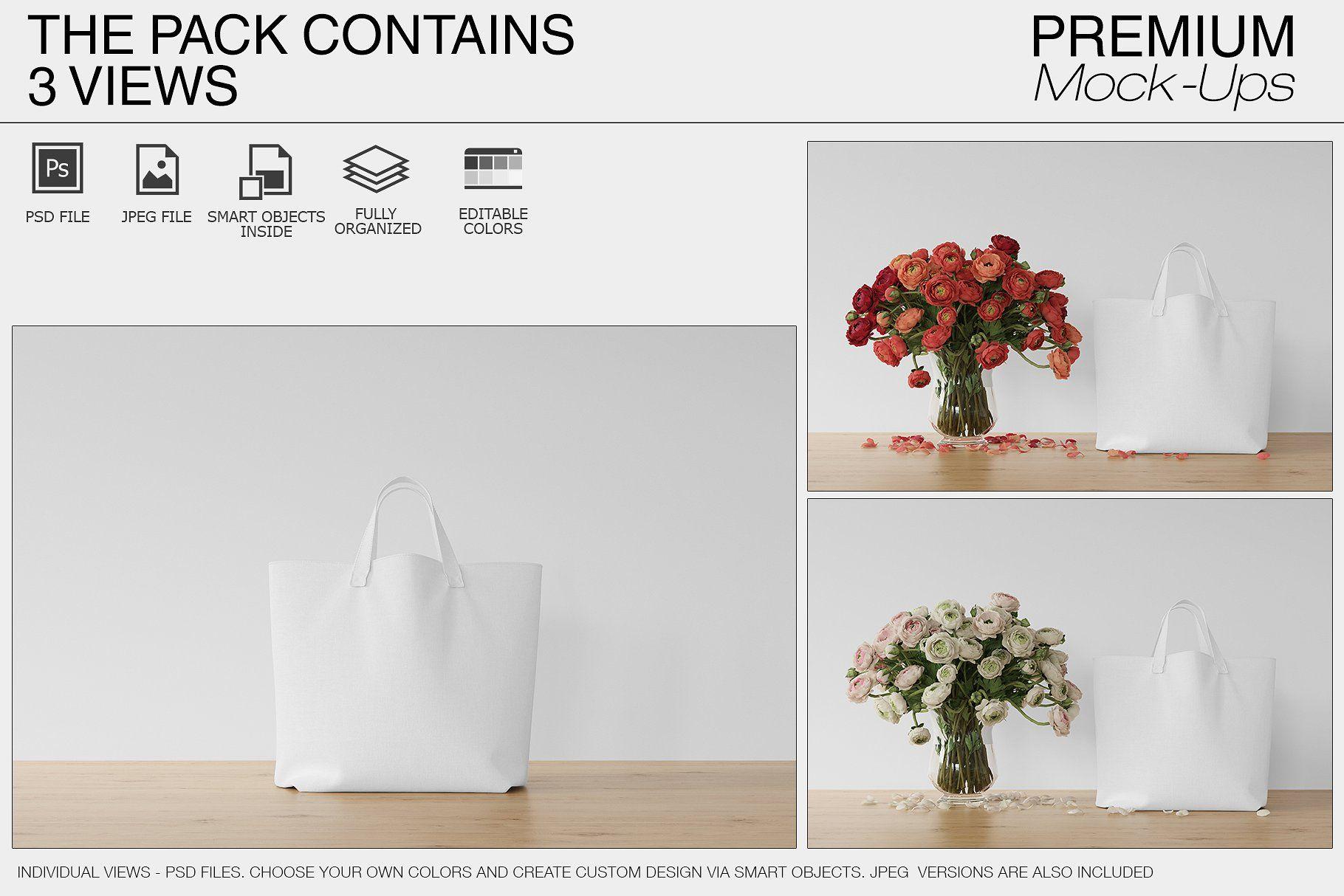 Download Tote Canvas Bag Mockups Bag Mockup Canvas Bag Psd Mockup Template