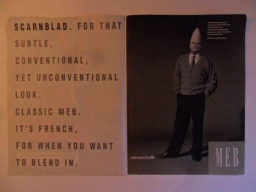 1993-Print-Ad-Scarnblad-MEB-Clothing-Fashion-Dan-Aykroyd-Beldar-Conehead
