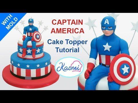 How to make Captain America Cake Topper Capitn America para tortas