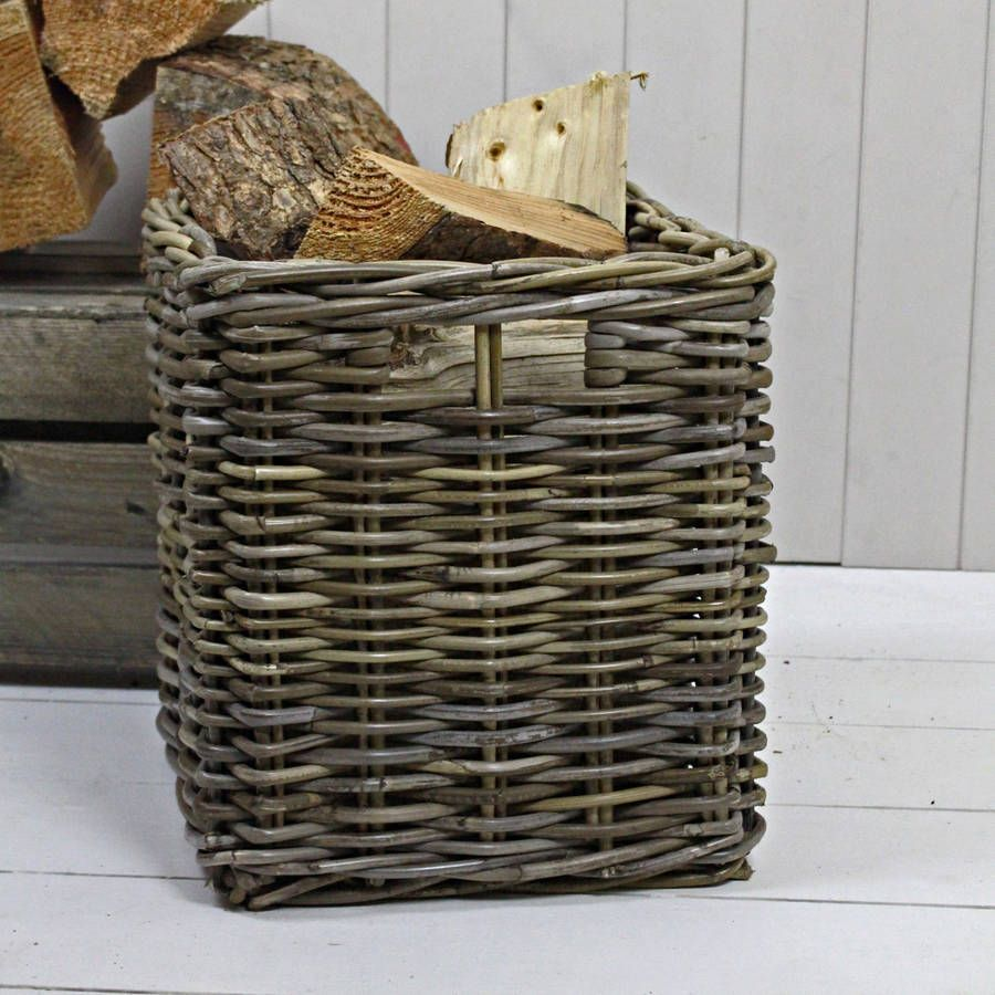 Square Willow Storage Basket