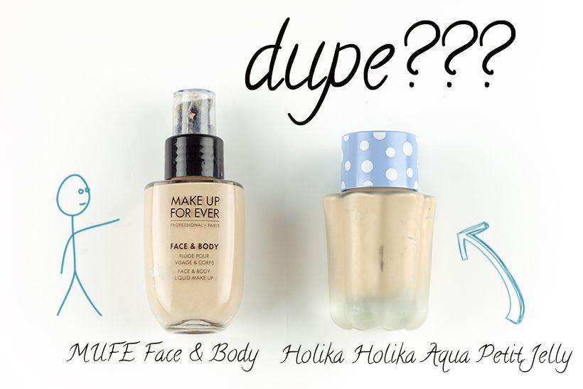 Make Up For Ever Face Body Foundation Vs Holika Holika Aqua