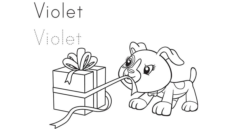 Violet Gets A Gift Coloring Page Free Kids Coloring Pages