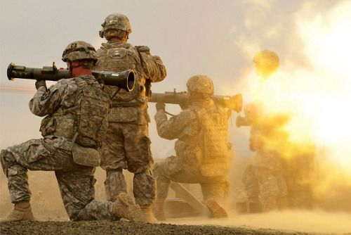 #MilitaryAndWeapons ...... 2-1 Cavalry Scouts conduct AT-4 live fire