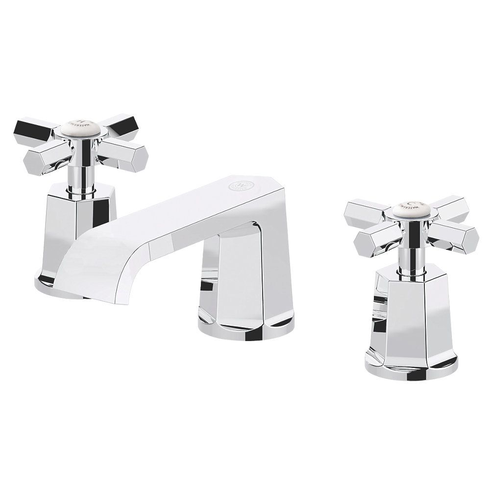 Watersmith Heritage Bathroom Basin Mono Mixer Tap With Click Waste