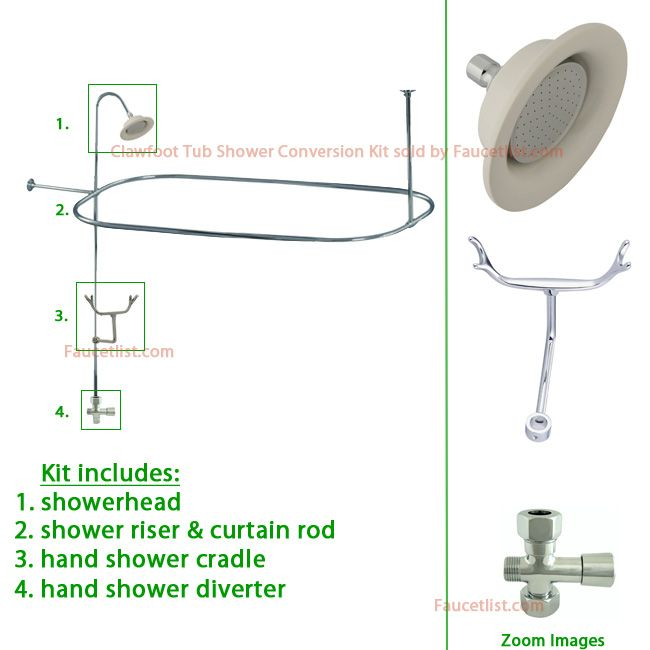 Installing A Clawfoot Tub Shower With Video Guide With Images