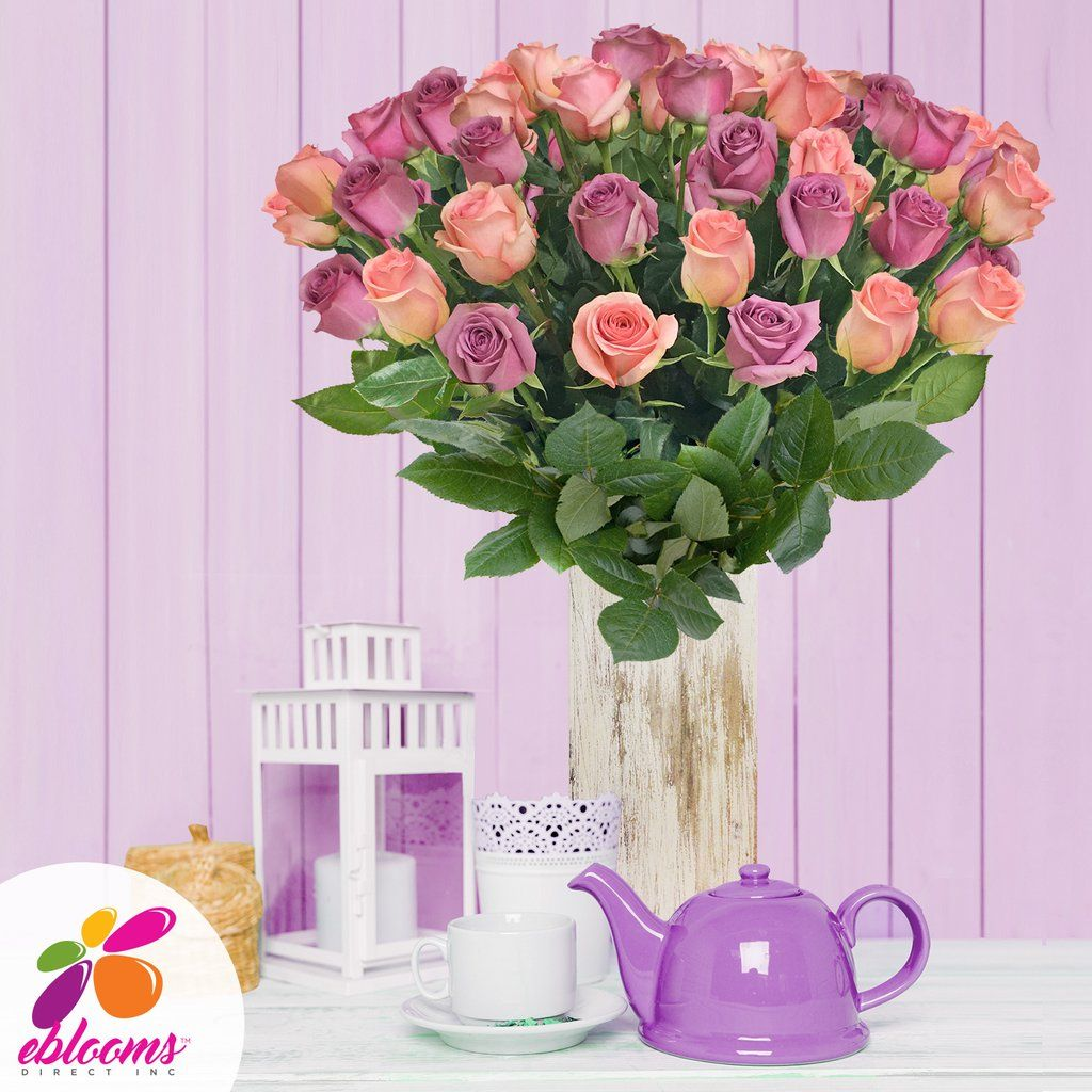 Lavender and light pink roses ebloomsdirect fresh