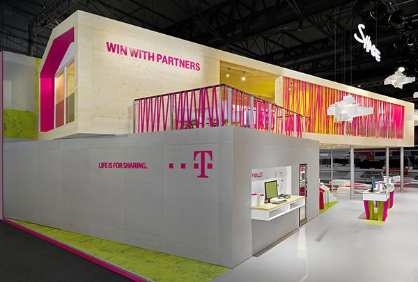 I like the pink lines on the railing Telekom MWC 2014