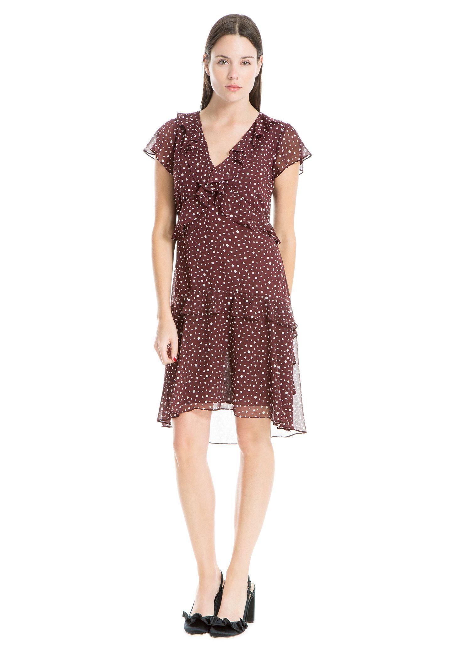 Flutter sleeve ruffled dress max studio fallwinter