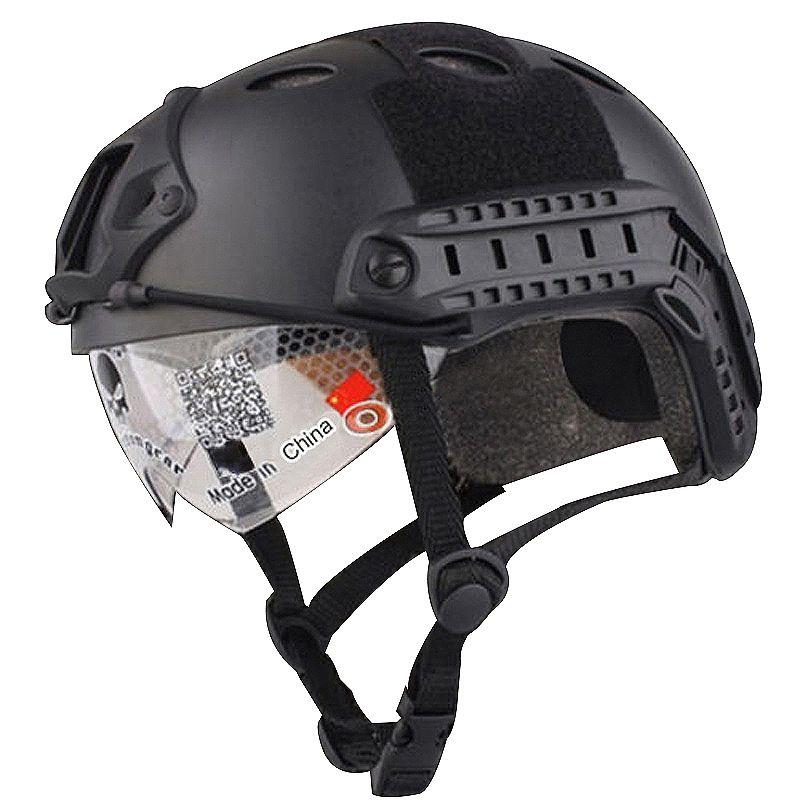 hot black brown military tactical fast helmet goggle. Black Bedroom Furniture Sets. Home Design Ideas